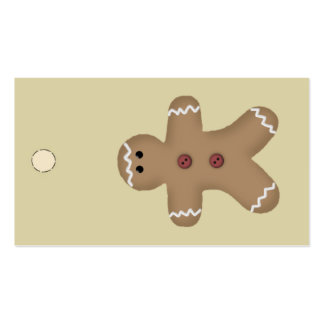 Gingerbread Man Hang Tag or Gift Tag Business Card