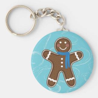 Gingerbread Man Happy Holidays Winter Keychain