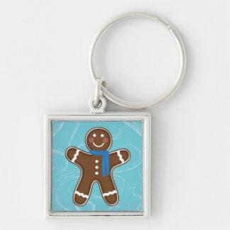Gingerbread Man Happy Holidays Winter Key Chain
