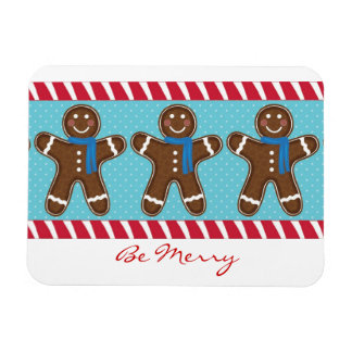 Gingerbread Man Happy Holidays Winter Magnet