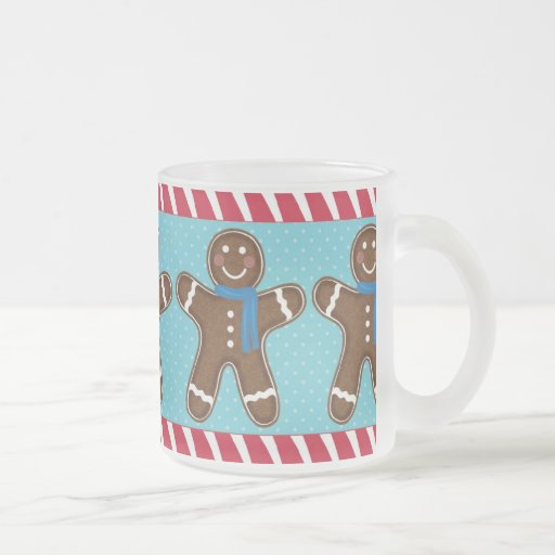 Gingerbread Man Happy Holidays Winter Coffee Mugs