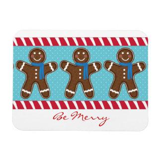 Gingerbread Man Happy Holidays Winter Rectangular Photo Magnet