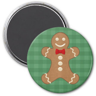Gingerbread Man Holiday Magnet