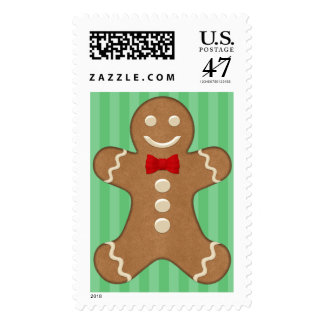 Gingerbread Man Holiday Postage