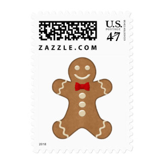 Gingerbread Man Holiday Postage Stamp