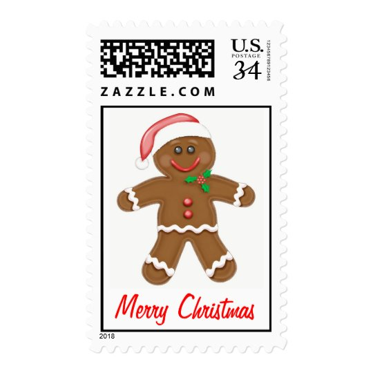 Gingerbread Man Holiday Stamps