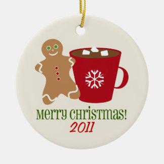 Gingerbread Man & Hot Chocolate Christmas Ornament