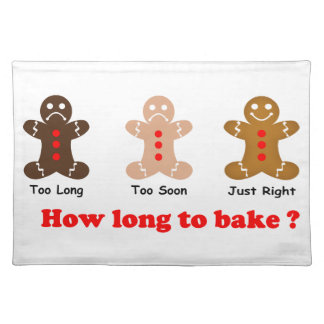Gingerbread Man How long to bake for Cloth Placemat