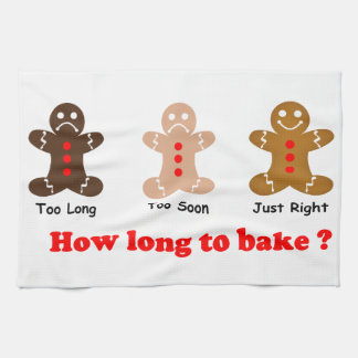 Gingerbread Man How long to bake for Hand Towels