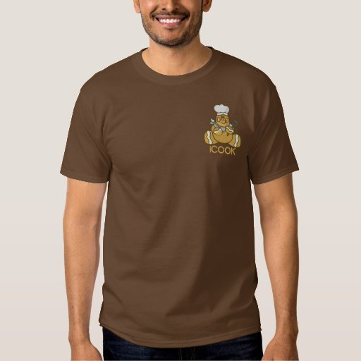 Gingerbread Man - iCOOK Embroidered T-Shirt