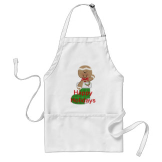 Gingerbread Man in Stocking Adult Apron