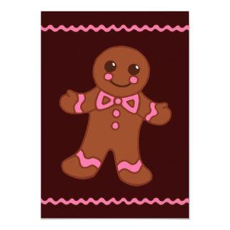"Gingerbread Man Invitation 5"" X 7"" Invitation Card"