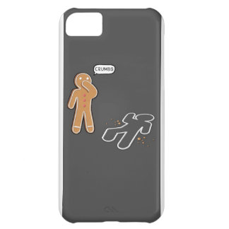 Gingerbread man Ironic Crime scene 'CRUMBS' iphone Cover For iPhone 5C