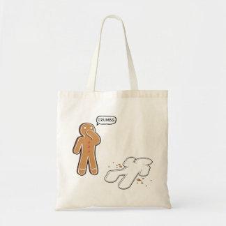 Gingerbread man Ironic Crime scene 'CRUMBS' Tote Bag