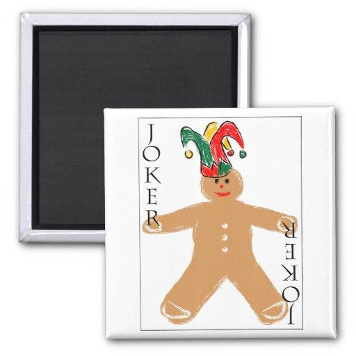 Gingerbread Man - Joker 2 Inch Square Magnet