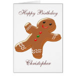 Gingerbread Man Just Add Name Birthday Cards