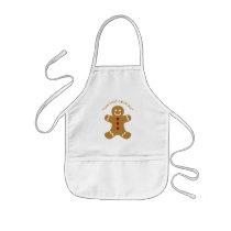 Gingerbread man kids' apron