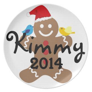 Gingerbread Man Kids, Candy, Cookies, Fun! Sweet Plate