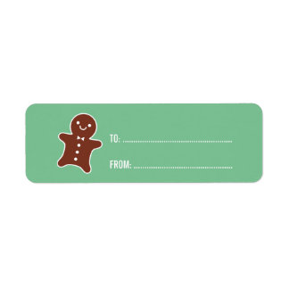 Gingerbread Man Label