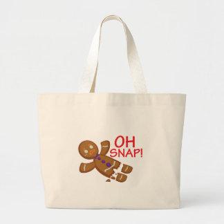 Gingerbread Man Large Tote Bag