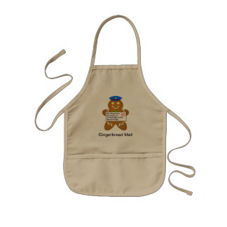Gingerbread Man Mail Delivery Kids' Apron