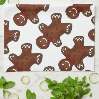 Gingerbread Man Men Christmas Cookie Cookies Towel