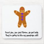Gingerbread Man Mousepads