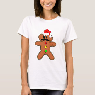 gingerbread man mustache T-Shirt