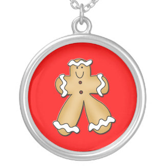 Gingerbread Man Necklace Pendant