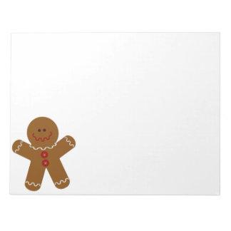 Gingerbread Man Note Pad