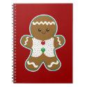 Gingerbread Man Spiral Note Books