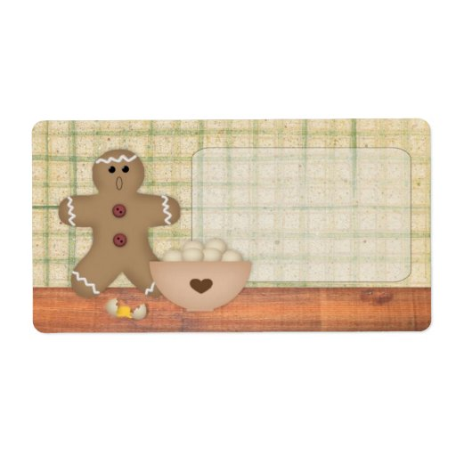 Gingerbread Man Oops Label | Zazzle