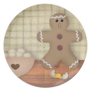 Gingerbread Man Oops Plate  sc 1 st  Zazzle & Gingerbread Man Plates | Zazzle