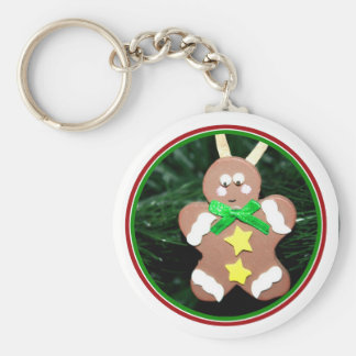 Gingerbread Man Ornament Keychains