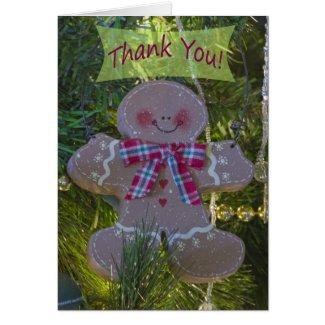 Gingerbread Man Ornament Thank You Card