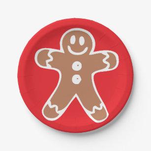 Gingerbread Man Paper Plate  sc 1 st  Zazzle & Gingerbread-man Plates | Zazzle