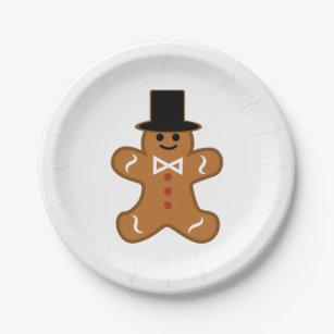 Gingerbread Man Paper Plate  sc 1 st  Zazzle & Gingerbread Dessert Plates | Zazzle