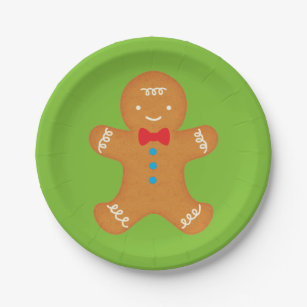 Gingerbread Man Paper Plate  sc 1 st  Zazzle & Gingerbread Man Plates | Zazzle