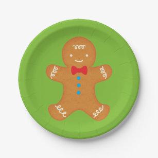 Gingerbread Man Paper Plate  sc 1 st  Zazzle & Gingerbread Plates | Zazzle
