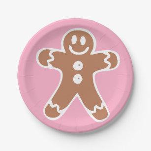 Gingerbread Man Paper Plate  sc 1 st  Zazzle & Christmas Gingerbread Man Plates | Zazzle
