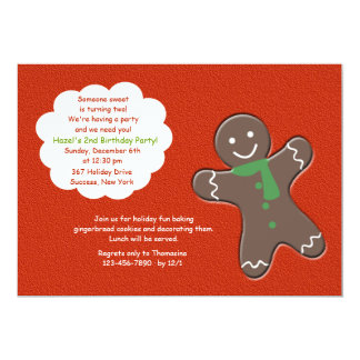 Gingerbread Man Party Invitation