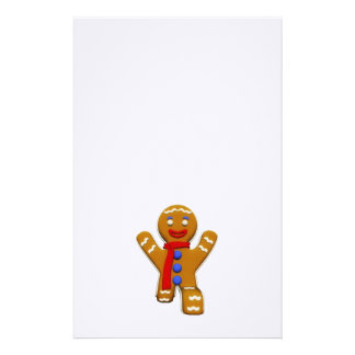 Gingerbread Man - Perfect Landing Custom Stationery