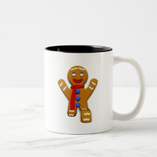 Gingerbread Man - Perfect Landing Two-Tone Coffee Mug