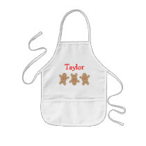 Gingerbread Man Personalized Apron
