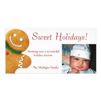 Gingerbread Man Photo Card