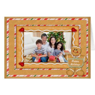 Gingerbread Man Photo Holiday Greetings Card