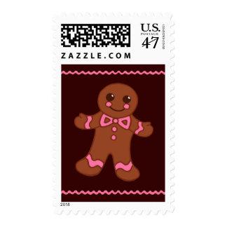 Gingerbread Man Postage Stamp