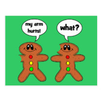 gingerbread man postcard