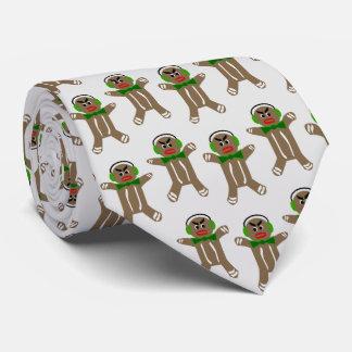 Gingerbread Man Print Necktie