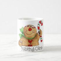 Gingerbread Man Raising Cane Mug